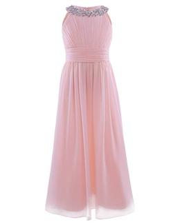 Halterneck festkjole rosa med stener Lyserosa - Guttogpike