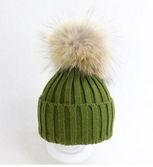 Luer med pelsduk Grønn - Guttogpike