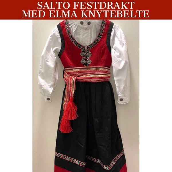 Salto festdraktpakke med belte Rød - Salto