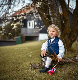 Salto festdrakt gutt Blå - Salto