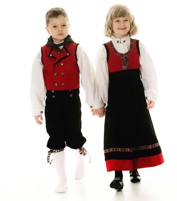 Salto festdrakt gutt Rød - Salto