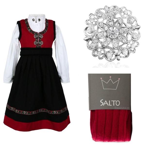 Rød Salto festdrakt pakke Rød - Salto